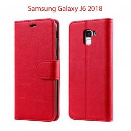 Etui à Clapet J6 et Pochette Portecarte Samsung Galaxy J6 Bleu