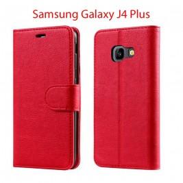Etui à Clapet J6 Plus et Pochette Portecarte Samsung Galaxy J6 Plus Bleu