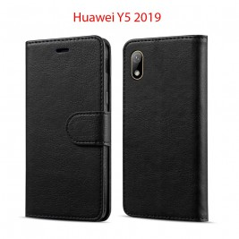 Etui à Clapet Huawei Y5 2019 et Pochette Portecarte Huawei Y5 2019 Noir