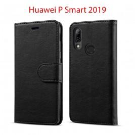 Etui à Clapet P Smart 2019 et Pochette Portecarte Huawei P Smart 2019 Noir