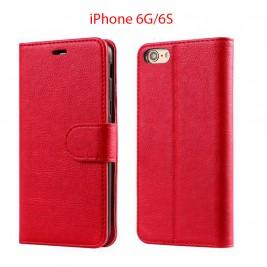 Etui à Clapet iPhone 6G/S et Pochette Portecarte Apple iPhone 6G/S Rouge