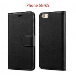 Etui à Clapet iPhone 6G/S et Pochette Portecarte Apple iPhone 6G/S Noir