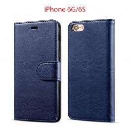Etui à Clapet iPhone 6G/S et Pochette Portecarte Apple iPhone 6G/S Bleu
