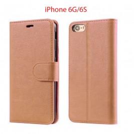 Etui à Clapet iPhone 6G/S et Pochette Portecarte Apple iPhone 6G/S Rose