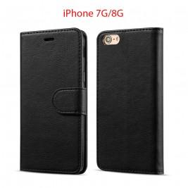 Etui à Clapet iPhone 7G/S et Pochette Portecarte Apple iPhone 6G/S Noir