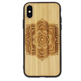 Coque iPhone XR en Bois Fleur de Lotus