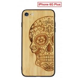 Coque iPhone 6G/S Plus en Bois Tete de Mort