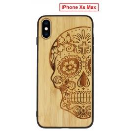 Coque iPhone Xs Max en Bois Tete de Mort