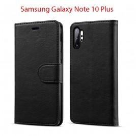 Etui à Clapet Note 10 et Pochette Portecarte Samsung Galaxy Note 10 Noir