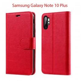 Etui à Clapet Note 10 Plus et Pochette Portecarte Samsung Galaxy Note 10 Plus Rouge