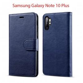 Etui à Clapet Note 10 Plus et Pochette Portecarte Samsung Galaxy Note 10 Plus Bleu