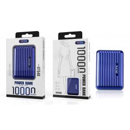 MTK Batterie Externe DT548 - Power Bank 10 000 mAH à 2 ports, rigide.