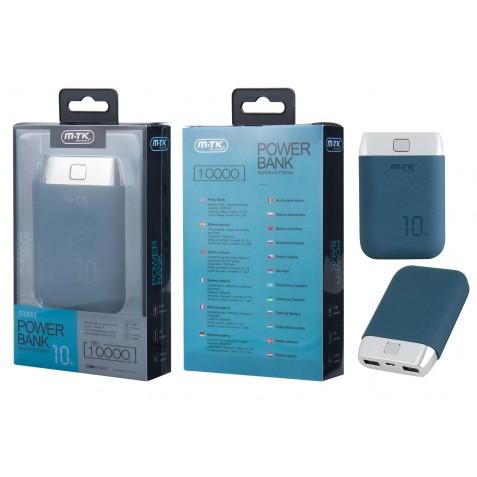 MTK Batterie Externe DT883 - Power Bank 10 000 mAH à 2 ports, rigide.