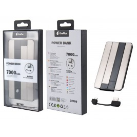 MTK Batterie Externe D2789 - Power Bank 7000 mAH avec un câble Micro USB