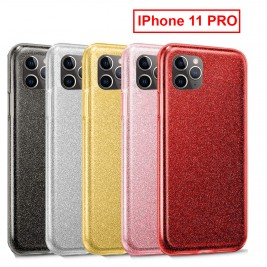 Coque Paillette iPhone 11 PRO en Silicone avec Strass brillant