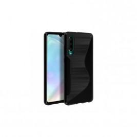 Coque Samsung Galaxy A10  s-line en carbone Noir