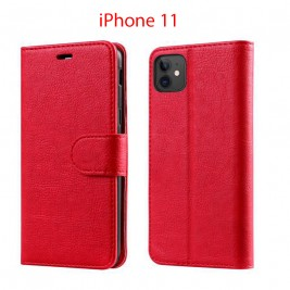 Etui à Clapet iPhone 11 et Pochette Portecarte Apple iPhone 11 Rouge