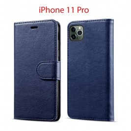 Etui à Clapet iPhone 11 Pro et Pochette Portecarte Apple iPhone 11 Pro Bleu