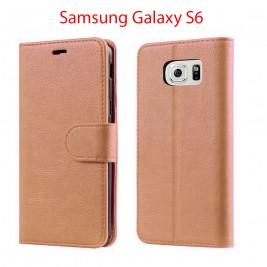 Etui à Clapet S6 et Pochette Portecarte Samsung Galaxy S6 Rouge
