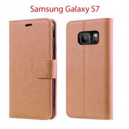 Etui à Clapet S7 et Pochette Portecarte Samsung Galaxy S7 Rose