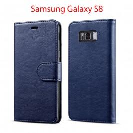 Etui à Clapet S8 et Pochette Portecarte Samsung Galaxy S8 Bleu