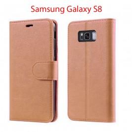 Etui à Clapet S8 et Pochette Portecarte Samsung Galaxy S8 Rose