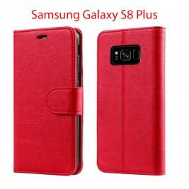 Etui à Clapet S8 Plus et Pochette Portecarte Samsung Galaxy S8 Plus Rouge