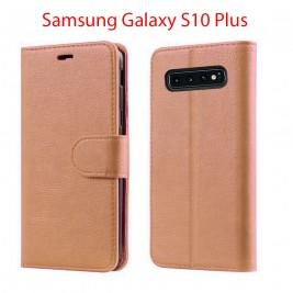 Etui à Clapet S10 Plus et Pochette Portecarte Samsung Galaxy S10 Plus Bleu