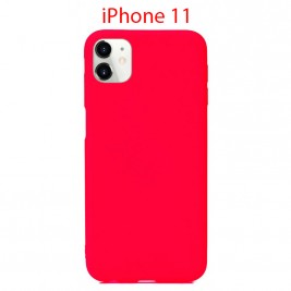 Coque iPhone 11 en Silicone Fin et Mince Rouge