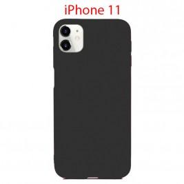 Coque iPhone 11 en Silicone Fin et Mince Noir