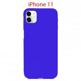 Coque iPhone 11 en Silicone Fin et Mince Bleu