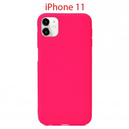Coque iPhone 11 en Silicone Fin et Mince Rose Flusha