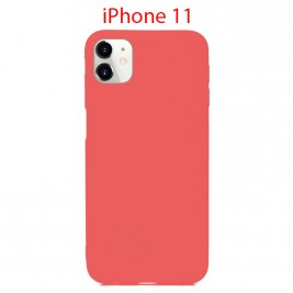 Coque iPhone 11 en Silicone Fin et Mince Rose