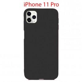 Coque iPhone 11 Pro en Silicone Fin et Mince Noir