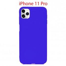 Coque iPhone 11 Pro en Silicone Fin et Mince Bleu