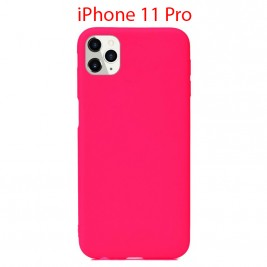 Coque iPhone 11 Pro en Silicone Fin et Mince Rose Flusha