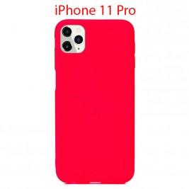 Coque iPhone 11 Pro en Silicone Fin et Mince Rouge