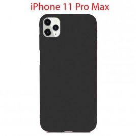 Coque iPhone 11 Pro Max en Silicone Fin et Mince Noir