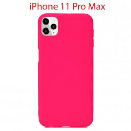 Coque iPhone 11 Pro Max en Silicone Fin et Mince Rose Flusha