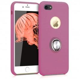 Coque iPhone 6G/6S en Silicone Violet avec Bague
