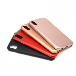 COQUE SILICONE MATTE EN COULEUR IPHONE X